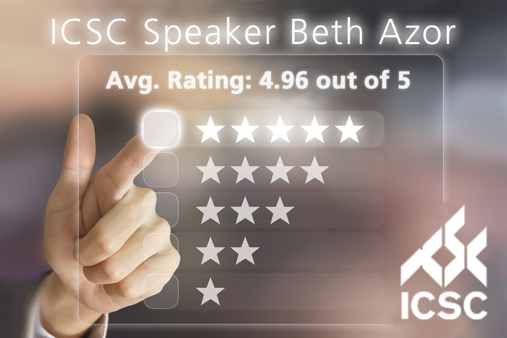 International Council of Shopping Centers Speaker Beth Azor Star Reviews